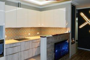 Узор для скинали в интерьере кухни - 23043