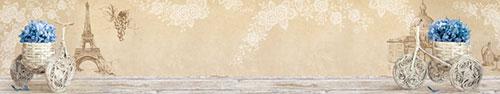 Скинали - Винтажный фон с гортензией