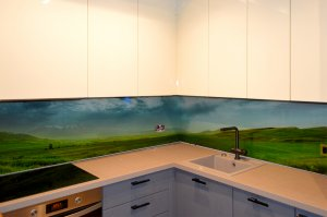 Поле для скинали в интерьере кухни - 23470