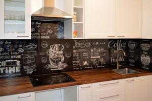 Кофе для скинали в интерьере кухни - 23478