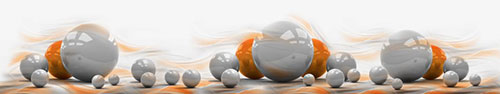 Скинали - Серые и оранжевые шары на светлом фоне