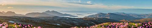 Скинали - Закатное солнце на просторах Северной Норвегии