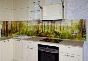 Деревья для скинали в интерьере кухни - 29078