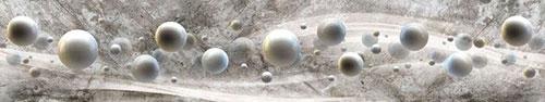 Скинали - Объемные шары на сером фоне