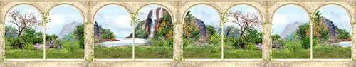 Скинали - Вид из арок на сказочный пейзаж