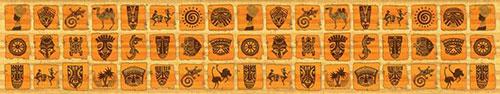 Скинали - Плиточки с этническими изображениями