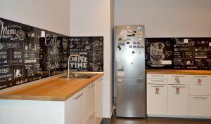 Кофе для скинали в интерьере кухни - 29206