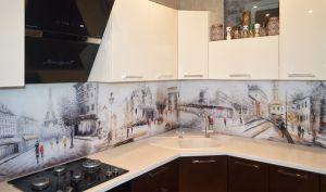 Париж для скинали в интерьере кухни - 29215