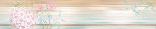 Скинали - Векторная гортензия на абстрактном фоне