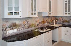 Венеция для скинали в интерьере кухни - 29720
