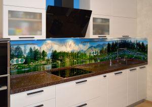 Озеро для скинали в интерьере кухни - 29721