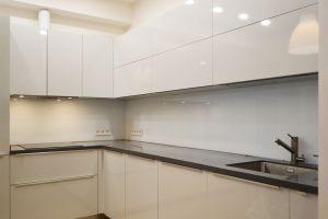 Скинали для кухни RAL 9003, осветленное стекло + краска, 4400х565 мм