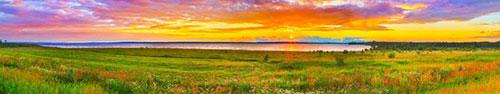 Скинали - Великолепный закат над рекой Кама (приток Волги)