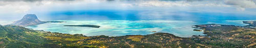 Скинали - Вид с самой высокой точки о.Маврикий