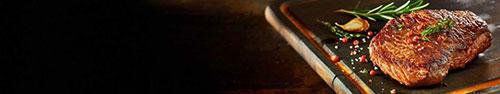 Скинали - Рамп стейк на доске