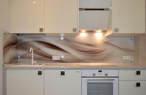 Волны для скинали в интерьере кухни - 29904