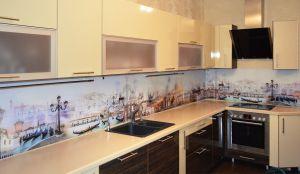 Венеция для скинали в интерьере кухни - 30060
