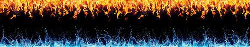 Скинали - Огонь и вода на черном фоне