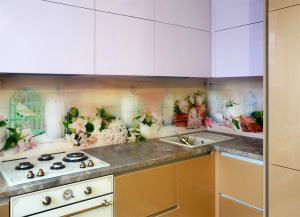 Скинали для фиолетовой и сиреневой кухни  - 30652
