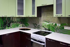 Растения для скинали в интерьере кухни - 30658