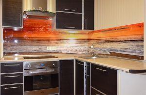 Закаты и рассветы для скинали в интерьере кухни - 30661