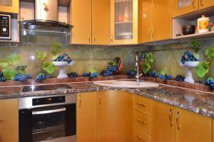 Фрукты, ягоды для скинали в интерьере кухни - 30668
