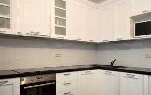 Кирпич для скинали в интерьере кухни - 31065