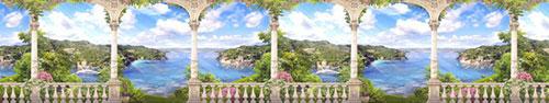 Скинали - Вид с террасы на море