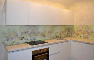 Орхидеи для скинали в интерьере кухни - 31131