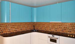Узор для скинали в интерьере кухни - 31233