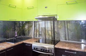 Лес для скинали в интерьере кухни - 31238