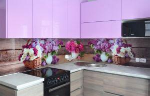 Скинали для фиолетовой и сиреневой кухни  - 31243
