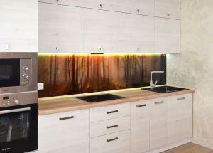 Лес для скинали в интерьере кухни - 31244
