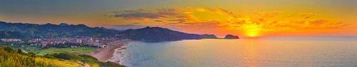 Скинали - Закат над морем в Северной Испании