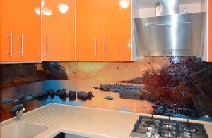 Озеро для скинали в интерьере кухни - 31260
