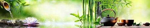 Скинали - Спа фон с чаем, бамбуком и лотосом