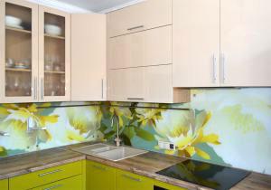 Графические для скинали в интерьере кухни - 31311