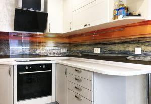 Море и пляж для скинали в интерьере кухни - 31317