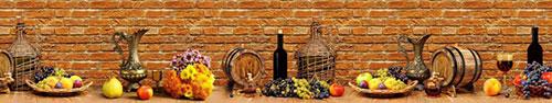 Скинали - Фрукты и вино на столе