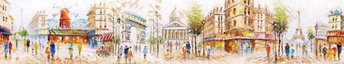 Скинали - Рисунки маслом, улочки Парижа