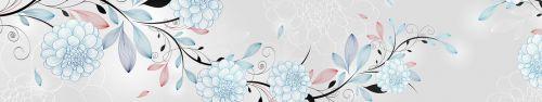 Скинали - Векторные цветы на сером фоне