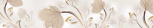Скинали - Векторные цветы, бежевый фон