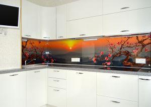 Закаты и рассветы для скинали в интерьере кухни - 31535