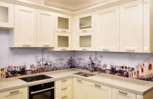 Венеция для скинали в интерьере кухни - 31539