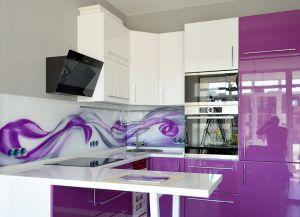 Скинали для фиолетовой и сиреневой кухни  - 31550
