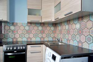 Узор для скинали в интерьере кухни - 31668