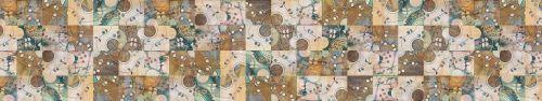 Скинали - Абстрактная плитка в ретро стиле