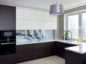 Абстракции для скинали в интерьере кухни - 32407