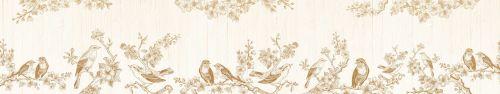 Скинали - Векторные рисунки птиц на цветущих ветках яблони