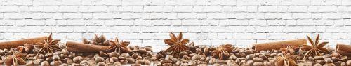 Скинали - Кофе зерна на фоне кирпичной стены
